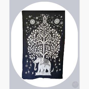Elephant Tree Of Life Tapestry Mystical Moons