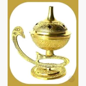 Embossed Brass Burner Incense Mystical Moons