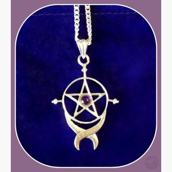 Endless Pentagram Necklace Mystical Moons