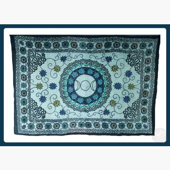 Flower Triple Moon Tapestry Mystical Moons