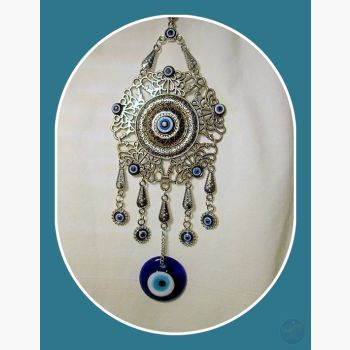Flowering Evil Eye Hanging Mystical Moons