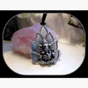 Ganesh On Lotus Amulet & Talismans Mystical Moons