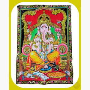 Ganesha Tapestry Mystical Moons