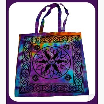 Goddess Pentagram Triquetra Tote Bag Bags Mystical Moons