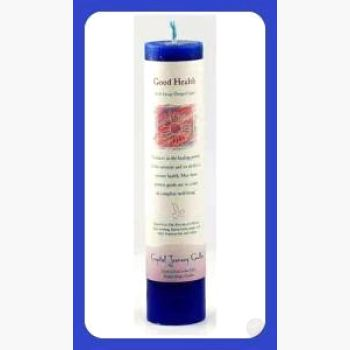 Good Health Reiki Charged Pillar Candle Candles Mystical Moons