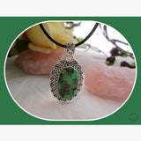 Green Mojave Sterling Silver Pendant Pendants Mystical Moons