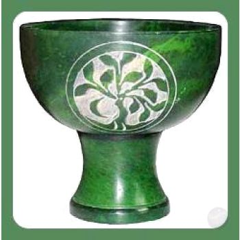 Green Tree Of Life Chalice Incense Burner Mystical Moons