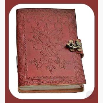 Greenman Latched Leather Journal Journals Mystical Moons