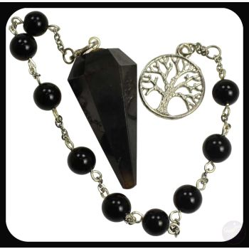 Grounding Protecting Black Onyx Tree Of Life Pendulum Bracelet Mystical Moons