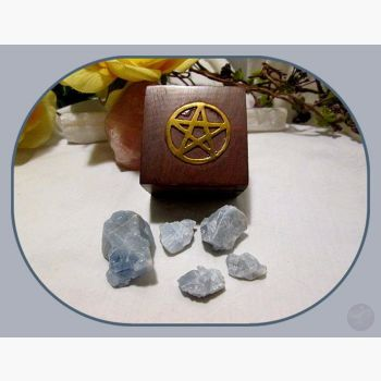 Grounding & Protecting Blue Calcite Travel Set Stone Sets Mystical Moons