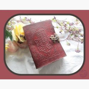 Hamsa Hand Latched Leather Journal Journals Mystical Moons