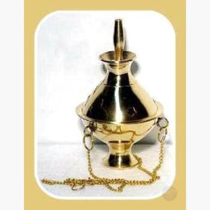 Hanging Brass Censer Incense Burner Mystical Moons