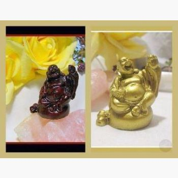 Happy Long Life Buddha Statue Mystical Moons