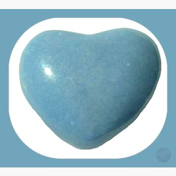 Healer's Stone Angelite Heart Hearts Mystical Moons