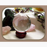Healing Clear Quartz Crystal Ball & Stand - 55Mm Mystical Moons