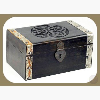 Hecate Triple Pentagram Treasure Chest Mystical Moons