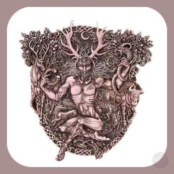 Horned God Cernunnos Wall Plaque Mystical Moons