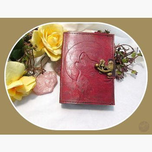 Howling At The Moon Latched Leather Journal Journals Mystical Moons
