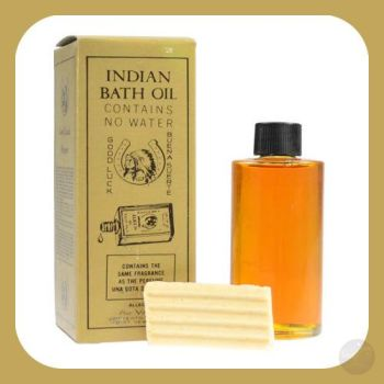 Indian Bath Oil & Good Luck Soap Set Oils Herbs Mystical Moons