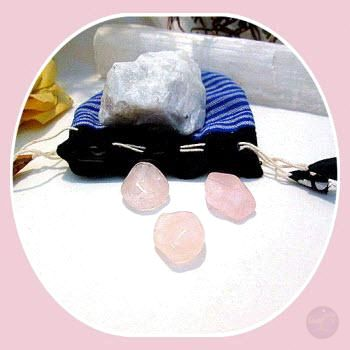Inner Growth & Self Love Natural Moonstone Rose Quartz Set Stone Sets Mystical Moons