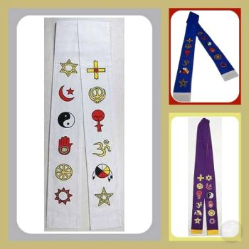 Interfaith Minister's Stole Stoles & Prayer Shawls Mystical Moons