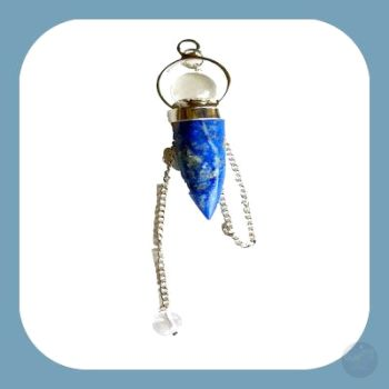 Lapis Lazuli Teardrop & Crystal Ball Pendulum Mystical Moons