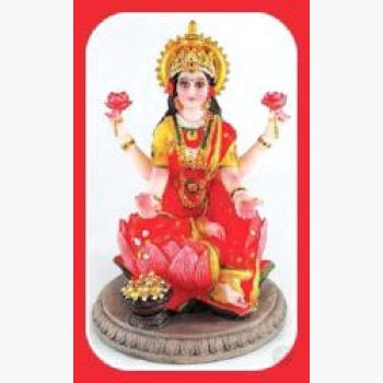 Laxmi On Lotus Statue - Goddess Of Prosperity Luck Beauty Courage & Fertility Mystical Moons