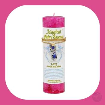 Love Pillar Candle With Fairy Dust Necklace Candles Mystical Moons