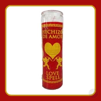 Love Spell Red 7 Day Jar Candle Candles Mystical Moons