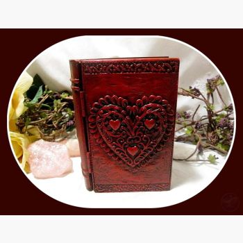 Loving Heart Book Keepsake Box Mystical Moons