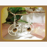 Luck & Prosperity Tigers Eye Sterling Silver Earrings Mystical Moons