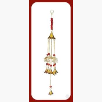 Lucky Elephants & Bells Wind Chime Mystical Moons