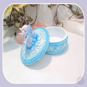 Magical Blue Unicorn Treasure Box Mystical Moons