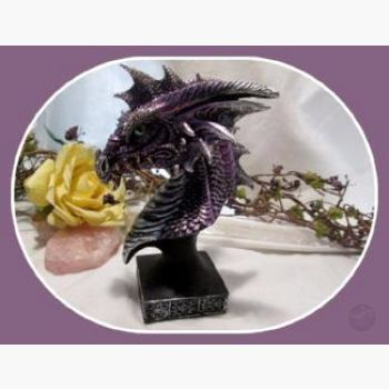 Magical Purple Mist Dragon Head Statue Mystical Moons