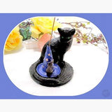 Magickal Cat & Friend Incense Holder Mystical Moons