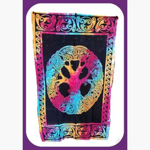 Mandala Tree Of Life Tapestry Mystical Moons