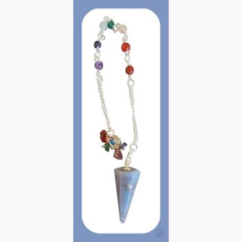 Master Awareness Angelite 7 Chakras Pendulum Mystical Moons