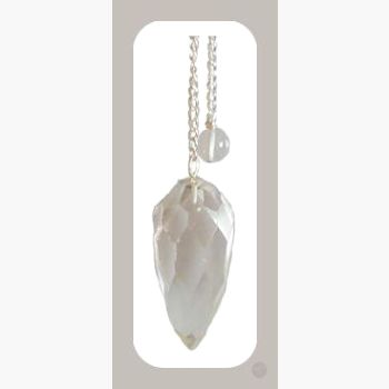 Master Healer Faceted Clear Quartz Pendulum Mystical Moons