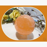 Mental Clarity Orange Selenite Sphere & Stand Set - 55Mm Crystal Ball Mystical Moons