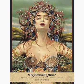 Mermaid's Mirror Lined Journal Mystical Moons