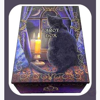 Midnight Vigil Black Cat Tarot Box