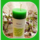 Money Reiki Charged Pillar Candle Candles Mystical Moons
