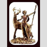 Moon Diana - Goddess Of The Pagans & Queen Witches Statue Mystical Moons