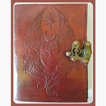 Moon Goddess Leather Latched Journal Journals Mystical Moons