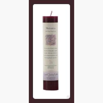 Motivation Reiki Charged Pillar Candle Candles Mystical Moons