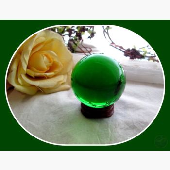 Mystic Green Healing Crystal Ball & Stand 50Mm Mystical Moons