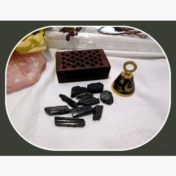 Nurturing & Protecting Black Tourmaline Travel Set Stone Sets Mystical Moons