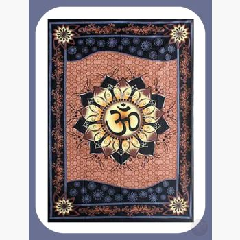 Om Lotus Tapestry Mystical Moons