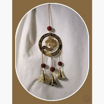 Om Rudraksha Wind Chime Mystical Moons