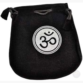 Om Velveteen Bag Drawstring Bags Mystical Moons